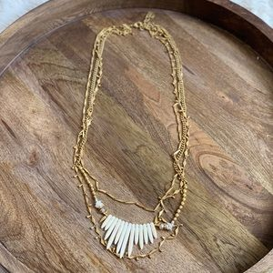 Stella & Dot Zuni Layering Necklace Gold 3 in 1